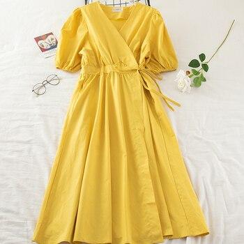 Vestido De verano largo De gasa Vintage, elegante