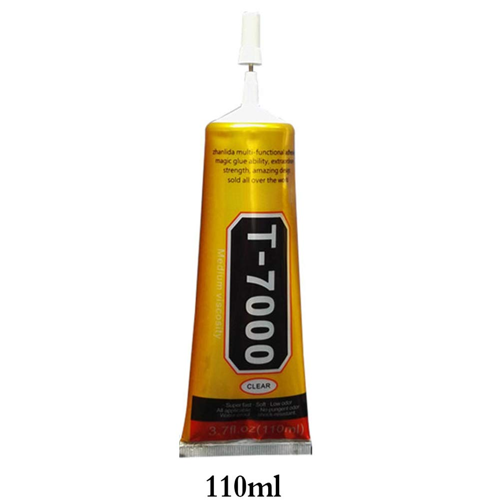 1Pcs <font><b>T7000</b></font> <font><b>110ml</b></font> Industrial Strength Adhesive Black Liquid Glue for Touch Screen DIY Stick Drill Jewerly Craft Rhinestone Glue image