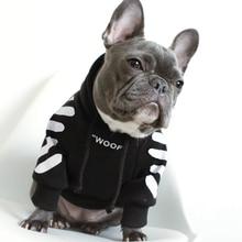 Французская одежда для бульдога собака толстовка Adidog теплая спортивная ретро для собак Толстовка с капюшоном Домашние животные одежда для щенков и Собак Мопс щенок одежда чихуахуа