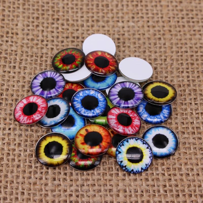 24pcs/lot 14mm Blyth Doll Eyes Chips Thin Glass Pupil Eye DIY Accessories BT109