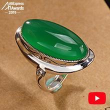 S925 Feinen Antiken shop Ringe Smaragd Ringe Luxus Frauen Handgemachte Vintage Natürliche Chalcedon moldavit peridot ar