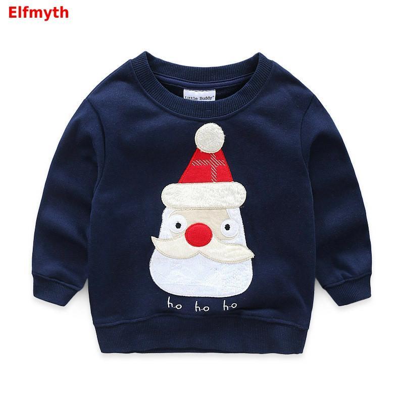 2019 Boys Sweatshirt Christmas Tops Autumn T-shirt Kids Clothes Tshirt Koszulki Meskie Tee Shirt Enfant Camiseta Tractor Car New