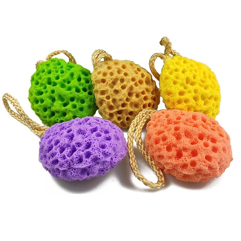 1pcs Water Droplet Honeycomb Soft Bath Ball Shower Bath Sponge Rub Wash Body Kids Adults Bath Brushes Bathroom Supplies