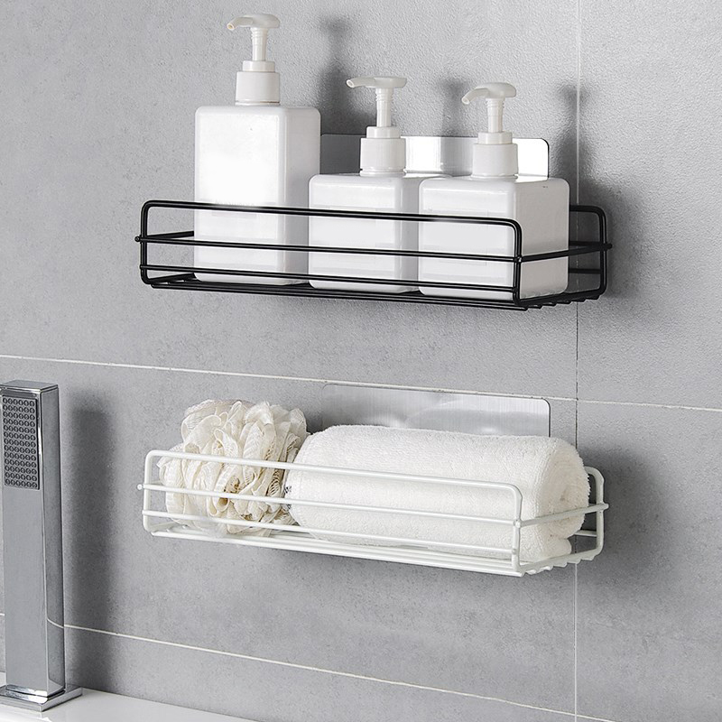 New Bathroom Accessories Punch Free Bathroom Shelf Bathroom Organizer Storage Rack Organizer Shower Wall Shelf Kitchen Basket