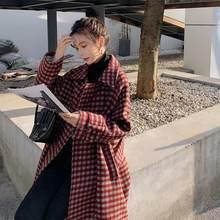Новое шерстяное пальто в клетку женское утепленное средней и