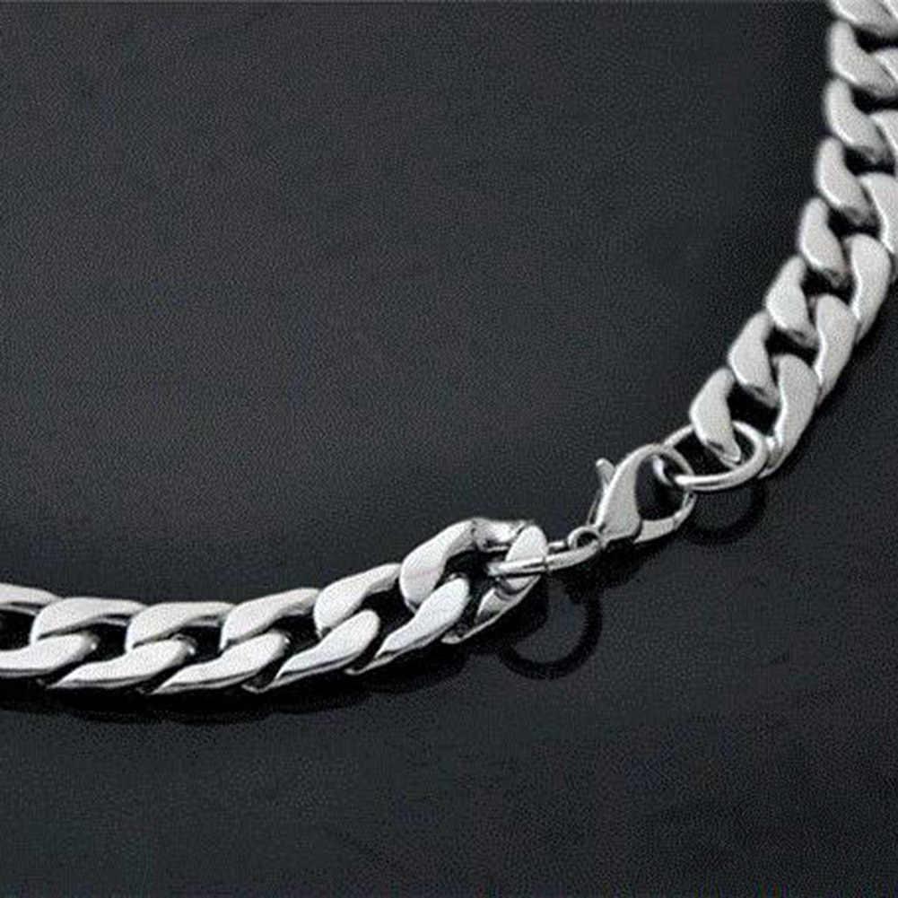 Collar de hombre trenzado de torsión oblata collar de cadena ancha de moda accesorio de joyería para manualidades cadena duradera astilla 925 joyería Hiphop