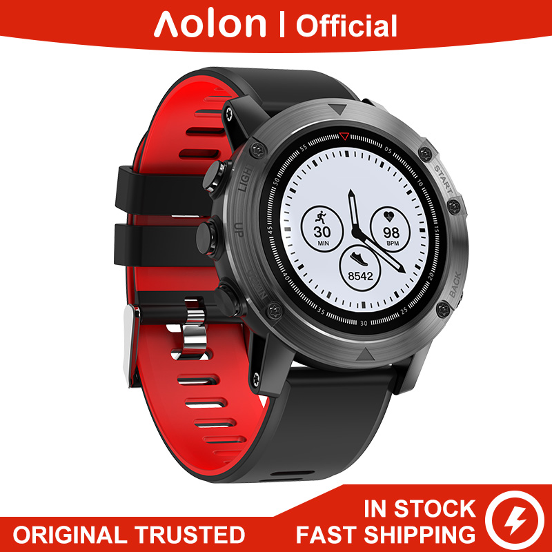 Aolon D18 GPS Positioning Compass Watch Outdoor Heart Rate Monitor Pedometer IP68 Waterproof 35 Days Long Standby Smart Watch
