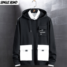 Singleroad hoodies masculinos 2020 bolsos moda moletom hip hop harajuku japonês streetwear preto hoodie masculino