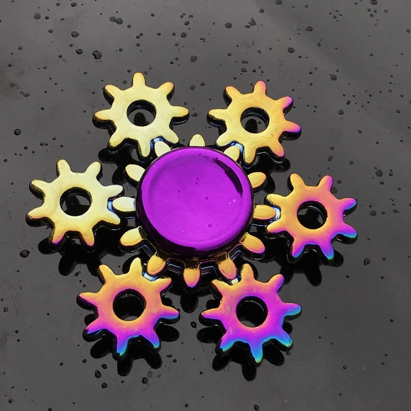 Toy Fidget-Spinner Rainbow R188 Metal Hybrid-Bearing Electroplate Alloy Children Gryo img3