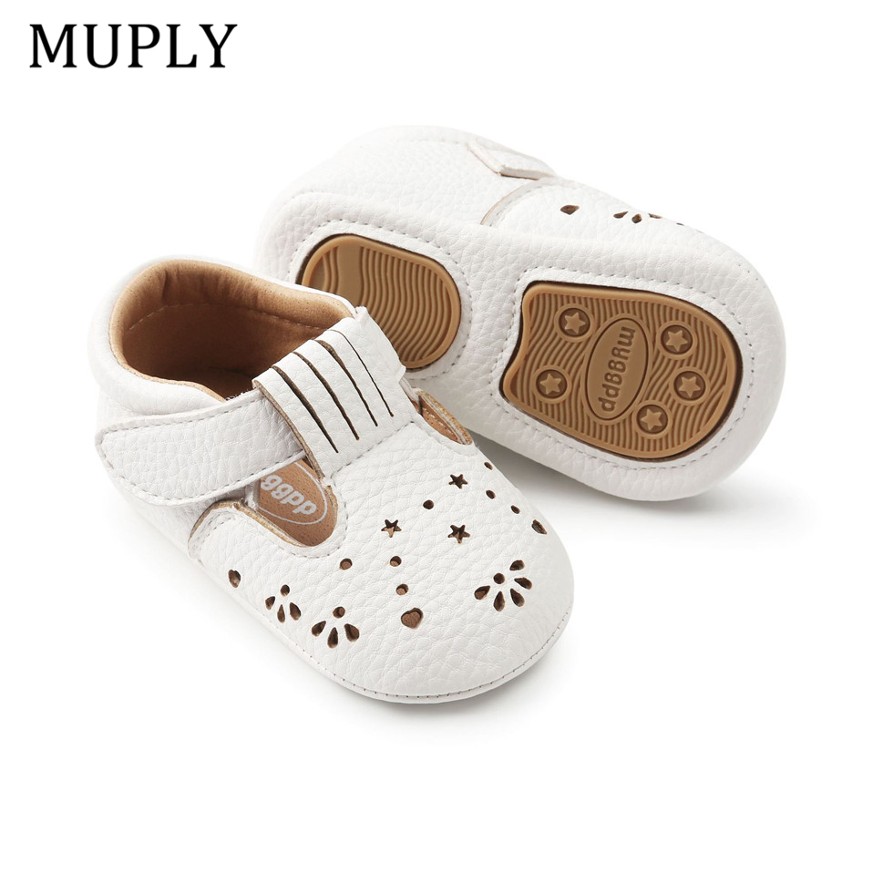 2020 New Baby Girls First Step Shoes Baby Moccasins Soft Bottom Rubber Non-slip Toddler First Walkers Baby Booties Girls Shoes