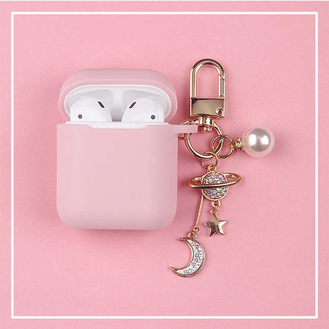 Cosmic Astronaut Spaceman Silicone Case for Apple Airpods 1 2  Accessories Case Protective Cover Bag Box Earphone Case Key ring 5