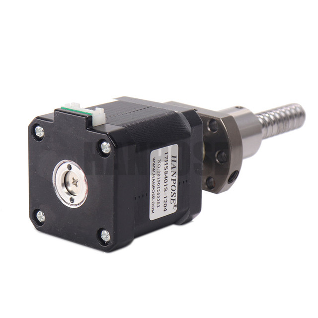 1PCS Nema17 Stepper Motor 17HS8401S-SFU1204 1.8A 52N.CM 4-lead L150/250/350mm Nema 17 ballscrew motor for Motor in automatic