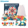 Neue Kinder Holz 3D Jigsaw Puzzle Kluge Bord Baby Montessori Pädagogisches Lernen Spielzeug für Kinder Geometrische Form Puzzles Spielzeug