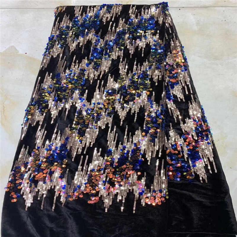 Новый нигерийский вышитый блёстками Сетка кружевная ткань невесты ткань для свадебных платьев в красном/золотом блёстках Индии африканский тюль швейцарская вуаль