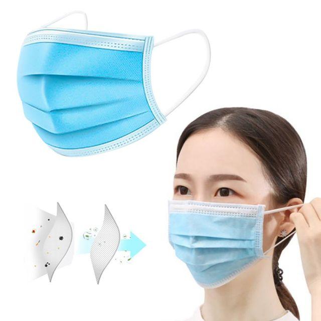 60pcs Disposable anti-Dust Masks  Anti-fog Masks Anti-flu Formaldehyde Odor Masks Thickened Three-layer Masks 1