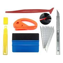 Hot Sale 5pcs Car Vinyl Wrap Film Squeegee Scraper Tools Vehicle Sticker Installation Kit Cutter Knife Car Styling Auto Accessor