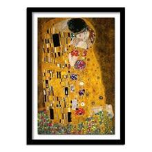 5D completo Quadrado Diamante DIY Diamante Pintura Gustav Klimt O Beijo Bordado Ponto Cruz Pintura Strass Decoração Presente