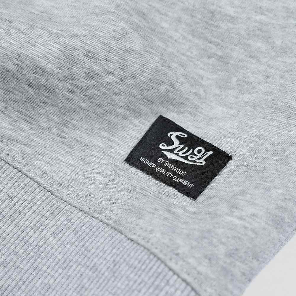 SIMWOOD 2020 봄 새 편지 인쇄 후드 남자 고품질 플러스 크기 운동복 캐주얼 조깅 트랙 슈트 SJ120161