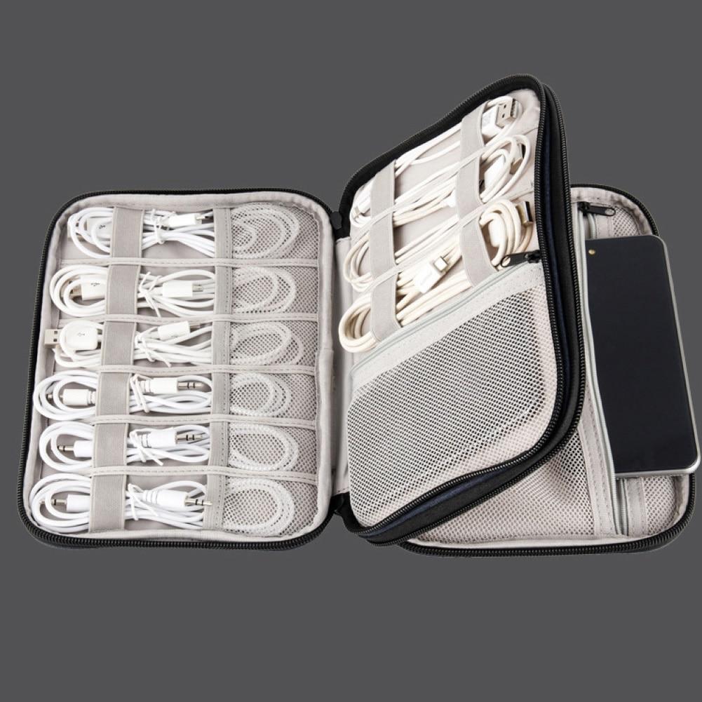 Travel Digital Storage Bag Laptop Power Adapter Organizer Case USB Gadget Rangement Multifunction Cable Earphone Wire Cases
