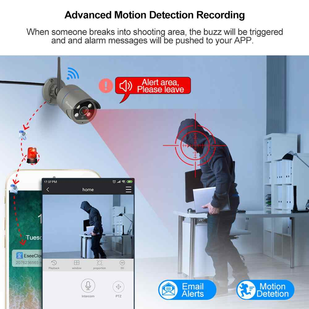 Techage 4CH 1080P Беспроводной Камера NVR Системы 2MP Wi-Fi 4 Массив светодиодный 2-полосная Аудио Звук Видео наружного видеонаблюдения CCTV набор