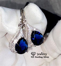 CC Drop Earrings For Women Water Drop Cubic Zirconia Vintage Jewelry Bridal Wedding Engagement Earring Blue Drop Shipping E020