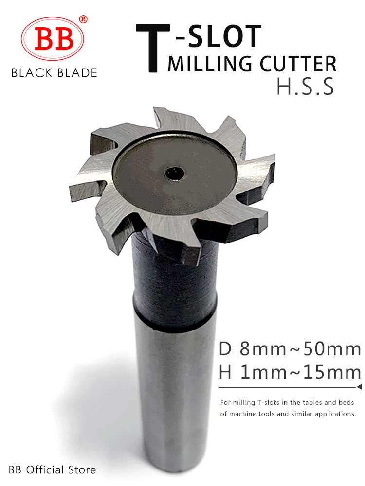 BB T Slot Milling Cutter For Metal HSS Woodruff Key Seat Router Bit Mill Thickness 1-12mm Diameter 8-50mm