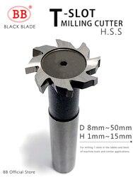 BB T Slot frez do metalu HSS Woodruff klucz Seat frez grubość 1-12mm średnica 8-50mm
