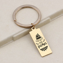 Keychain Farmer Gift Pendants Jewelry Gift Friends Present Trinket Key Holder Bag Charm Keepsake Keychain Hot Sale Keyrings(China)