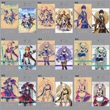 Genshin Impact A3 Retro Постер Цвет Постер Серия HD Постер Холст Дом Декор Живопись Кабинет Спальня Стена Аниме Картины 2021