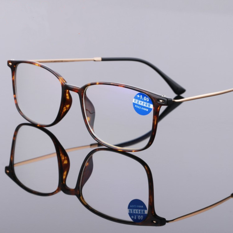 NYWOOH TR90 Reading Glasses Women Men Retro Anti Blue Light Eyeglasses Hyperopia Prescription +1.0 1.5 2.0 2.5 3.0 Diopter
