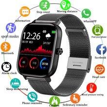 LIGE New Men Smart Watch Women Full Touch Fitness Tracker Blood Pressure Smart Clock Bluetooth call Women Smartwatch for Xiaomi