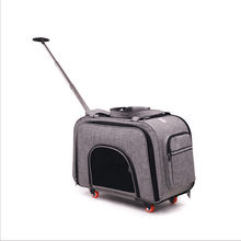 Multi-pet Hand-held Travel Trolley Protable Pets 10KG Pet Strollers Lever Expansion Box Cat Dog Go Out Carrying Pull Pole Bag(China)