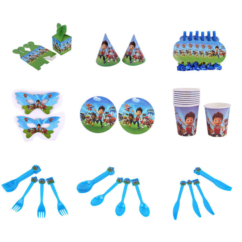 Paw Patrol Birthday Party ThemeAnime Action Party Decoration Lovely Baby Boy Girl Toy Props  For Children Best Xmas Gift