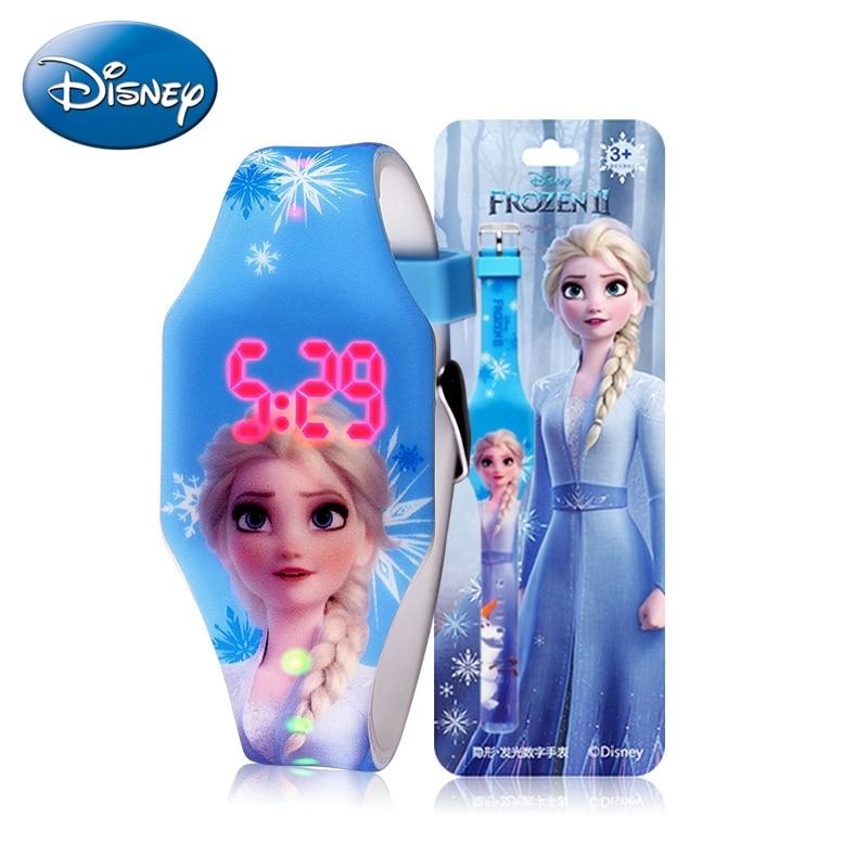 Новая Принцесса Эльза Дети Цифровой Часы Человек-Паук Красочные Источник Света Мальчики Девочки Часы Ребенок Подарок Часы Браслет Наручные Часы