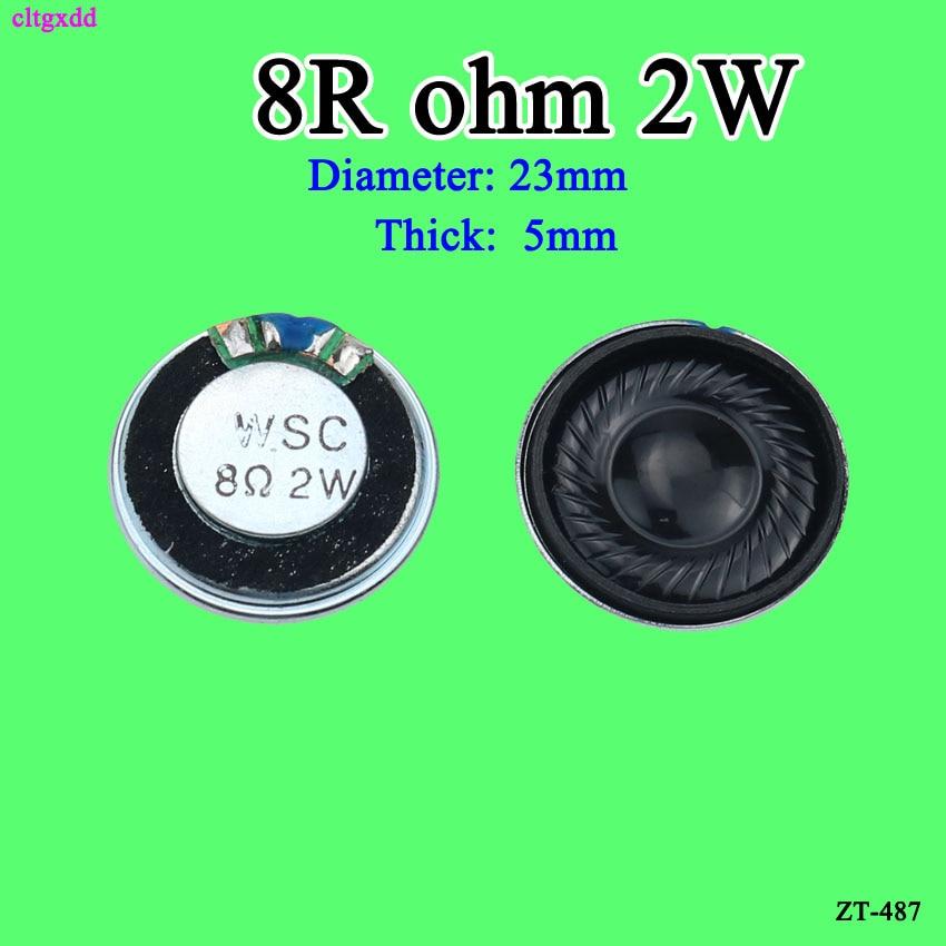 Cltgxdd 5pcs/lot New Ultra-thin Mini Speaker 8 Ohms 2 Watt 2W 8R Speaker Diameter 23MM 2.3CM Thickness 5MM