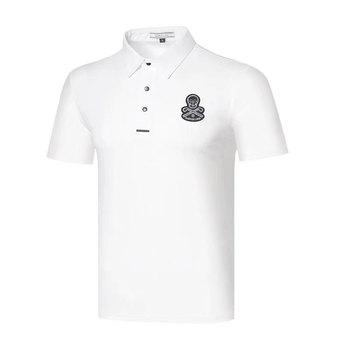 Mężczyźni sportowe z krótkim rękawem t-shirt do golfa 4 kolory nowy Golf odzież S-XXL w wyborze rozrywka zaznacz i LONA koszulka golfowa tanie i dobre opinie HQBWill COTTON SILK Poliester Mikrofibra spandex Anty-pilling Anti-shrink Przeciwzmarszczkowy Oddychające Szybkie suche