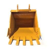Todo o metal 580 simulação balde 336d para huina 580 escavadeira escavação balde rc peças de carro acessórios Peças e Acessórios     -