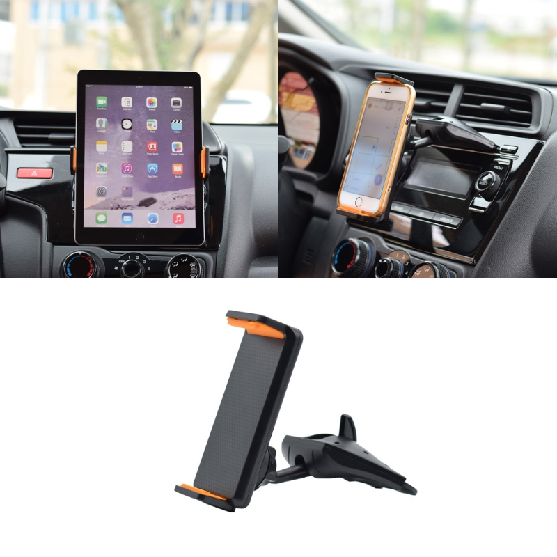 Universal 360 Degree Rotation Car CD Slot Mount GPS Phone Tablet Holder Stand