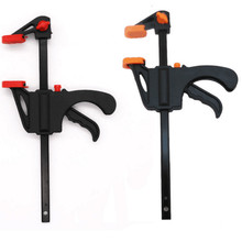 4 Inch Fixed Clip Woodworking Bar F Clamp Grip Ratchet Release Squeeze DIY Hand Carpenter Tool Clamp For Gluing Projects cheap ISHOWTIENDA Wood Working Tool