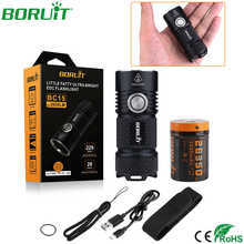 BORUiT Powerful XP-G3 LED Flashlight Waterproof Tactical Camping Torch Light 26350 Battery USB Rechargeable Hunting Fishing Lamp