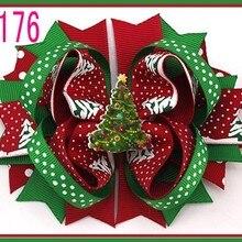 C Группа 30 шт. модные рождественские банты для волос Веселые бантики и коркер банты и модные банты для волос