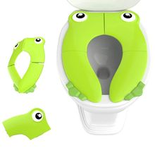 Foldable Potty Toilet Training Seat Portable Travel Toddler  with Carry Bag Prevent Germs Spread