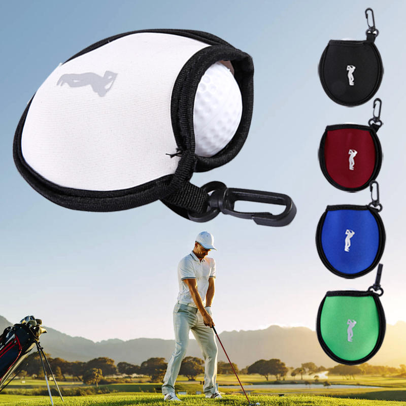 Golf Ball Pocket Golf Cover Storage Sports Nylon Outdoor Club Golf Ball Bag Case Protect Travel