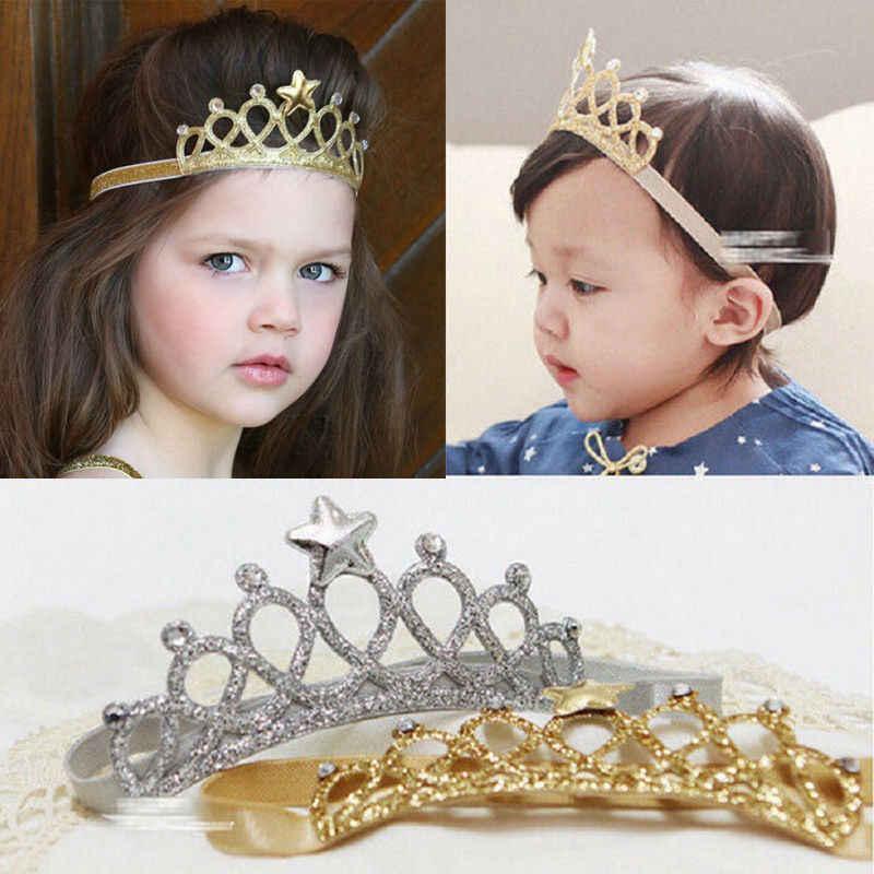 2019 שיער אביזרי יילוד תינוקות תינוק ילד ילדה בגימור מסיבת יום הולדת כתר שיער להקת אבזר
