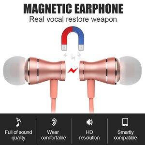 Image 5 - Проводные наушники In Ear, водонепроницаемые магнитные стереозвуки, наушники с микрофоном, гарнитура для iPhone, Android, мобильные наушники