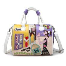 Fashion PU Leather Handbag Shoulder Bag Tote Purse Top-handle Bags Satchel Crossbody Messenger Bags for Women недорого