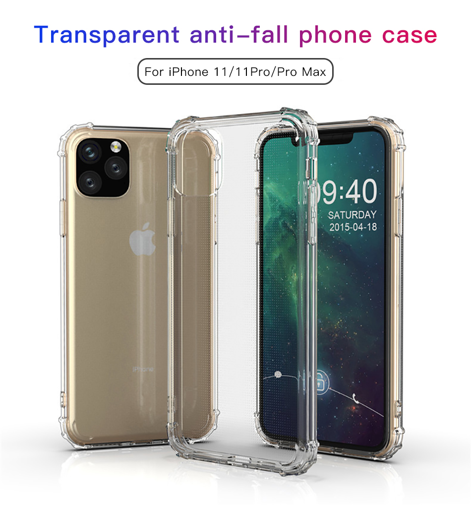 !ACCEZZ For iPhone 11 Case 2019 For iphone 11 Pro Max New Soft Cases Transparent Protection Back Cover Mobile Phone Shell Coque (1)