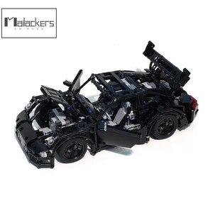Buildmoc Technic Rc Moc12532 Gt3 Rs гонки, двигатель, мощный автомобиль, строительные блоки, технический пульт дистанционного управления, автомобиль, дети, ...