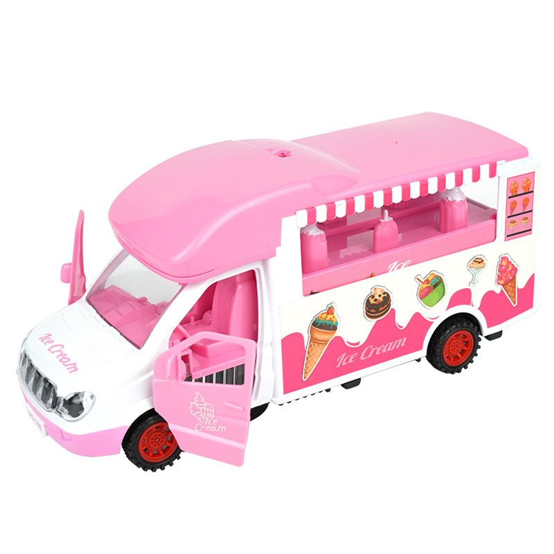 Children Electric Universal Ice Cream Cart Toy GIRL'S And BOY'S-Door Opening Shining Music Model Food Trucks