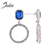 JOOLIM Baroque Blue Glass Circle Earring Luxury
